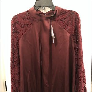 Beautiful burgundy blouse!